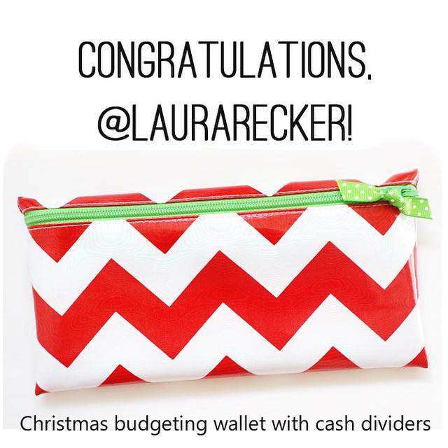 @laurarecker, you are the winner of the Christmas budgeting wallet! Please send your mailing address to [melissa at atimeforeverything dot net] within 48 hours.  Next week is my shop's 3-year Etsyversary, so stay tuned for more fun!  #atime4everything #etsy #envelopesystem #budget