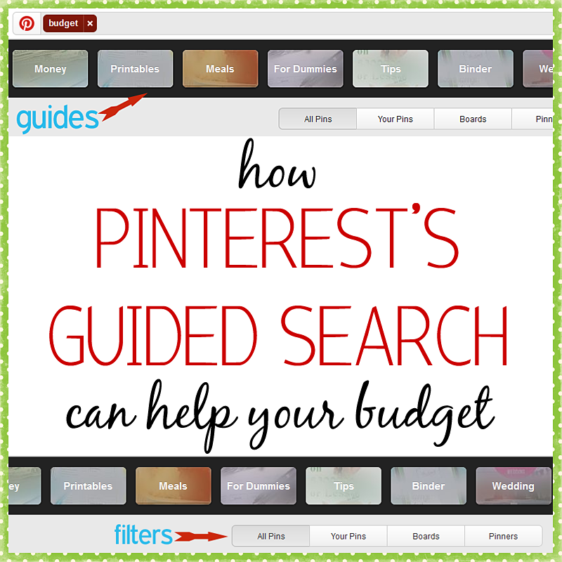 Pinterest Guided Search help budget